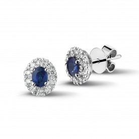 ALBERTI EARRINGS WITH SAPPHIRES AND DIAMONDS