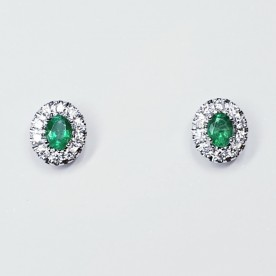 ALBERTI EARRINGS WITH EMERALDS AND DIAMONDS