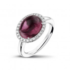 ALBERTI RINGS WITH PINK TOURMALINE AND DIAMONDS