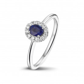 ALBERTI RINGS WITH SAPPHIRE AND DIAMONDS