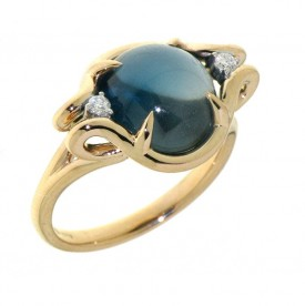 ALBERTI RING WITH TOPAZ AND DIAMONDS