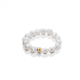 "COSCIA PEARL BRACELET ""LELUNE"" WITH GOLD ELEMENT"