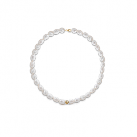 "COSCIA PEARL NECKLACE ""LELUNE"" WITH GOLD ELEMENTS"